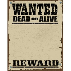 Wanted Dead Or Alive Poster Cardboard Cutout