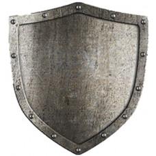 Aged Metal Shield Cardboard Cutout