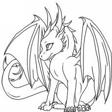 Baby Dragon 2 Cardboard Coloring Cutout