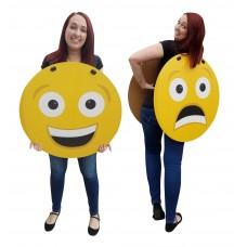 Happy/Sad Emoji Costume