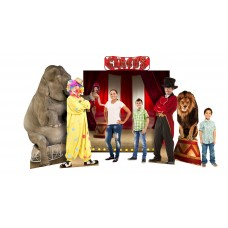 Circus Theme Backdrop Includes: (2691 Circus Lion, 2692 Circus Ring Master, Circus Backdrop and Header and 1480 Asian Elephant)