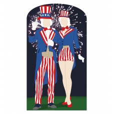 Aunt and Uncle Sam Standin