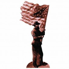 Union Soldier with flag
