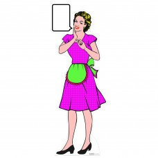1950s Style Housewife Pop Art